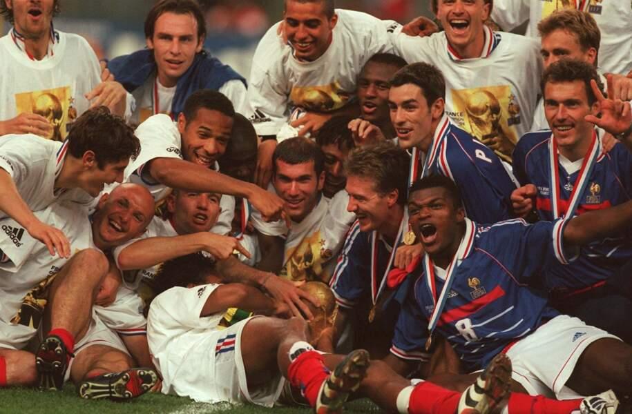 L'Équipe de France lors de la Coupe du Monde 1998