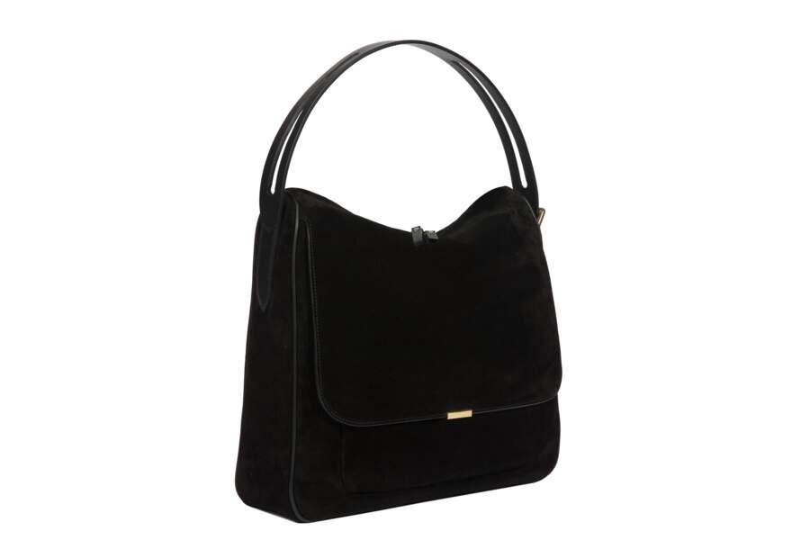Léo et Violette : Le Hobo, cuir et velours noir, 350 euros
