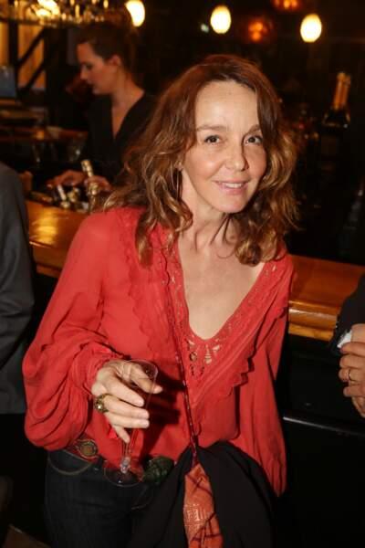 Philippine Leroy-Beaulieu à la fête de fin de tournage de la saison 3 de Dix pour cent, le 25 avril à Paris