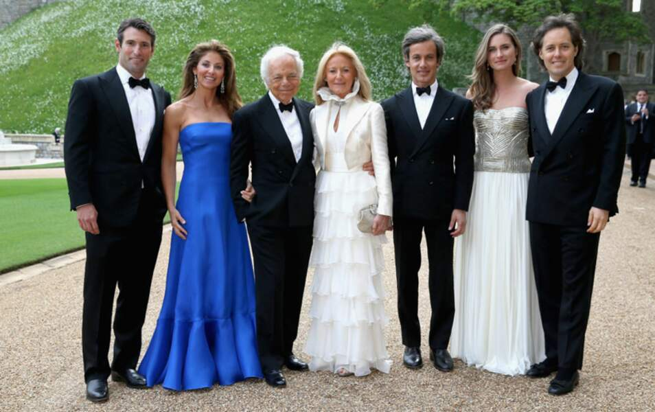 La famille de Ralph Lauren est venue en délégation : sa femme, ses trois fils et leurs deux belles-filles
