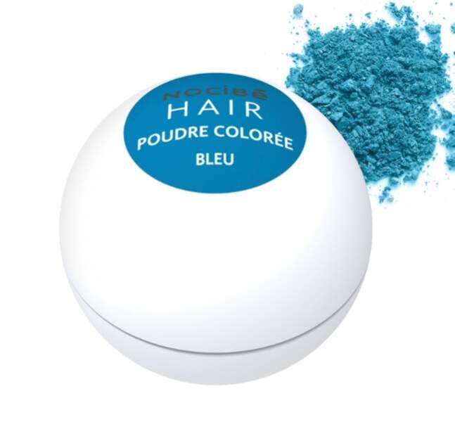 Poudre colorée bleue pour cheveux, Nocibé, actuellement à 2,98€
