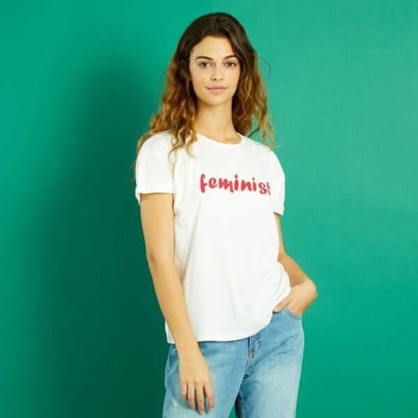 15 pièces modes à shopper chez Kiabi : T-shirt à message, 4,90 euros au lieu de 7 euros