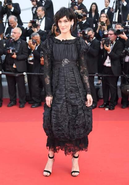 Cannes - Montée des Marches pour le 70ème anniversaire : Clotilde Hesme
