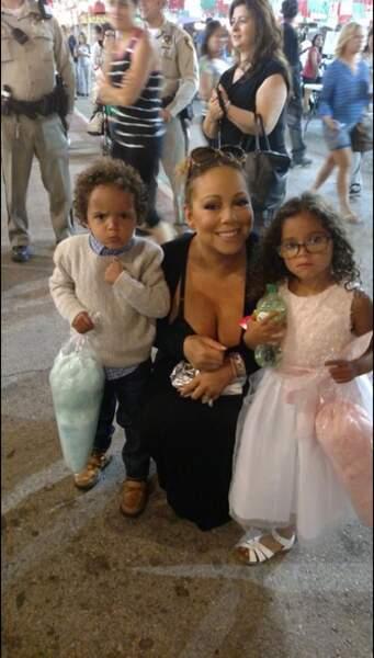 Mariah Carey avec Moroccan et Monroe, ses deux enfants