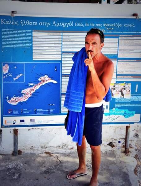 Nikos Aliagas profite de ses vacances en Grèce