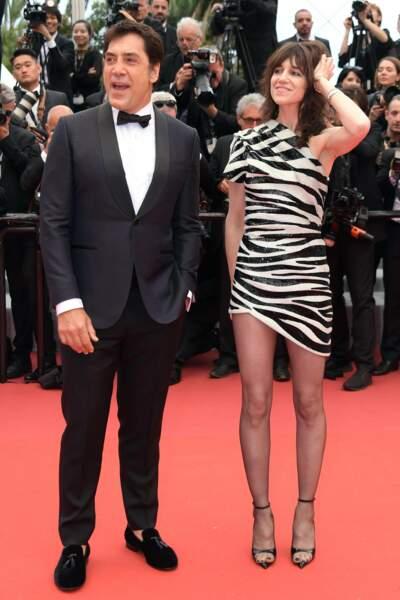 Javier Bardem et Charlotte Gainsbourg sont apparus ensemble sur le tapis rouge