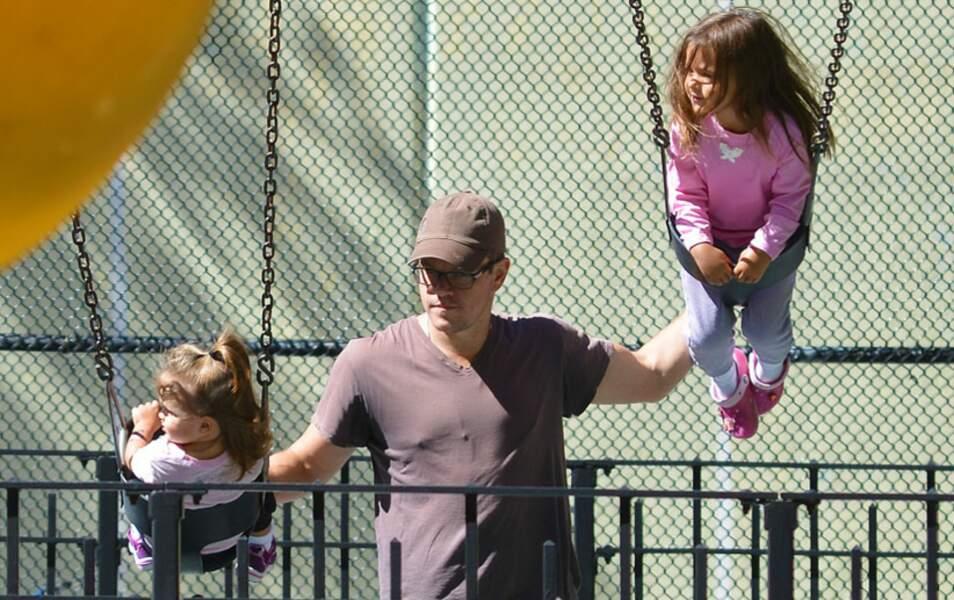 Matt Damon et ses filles