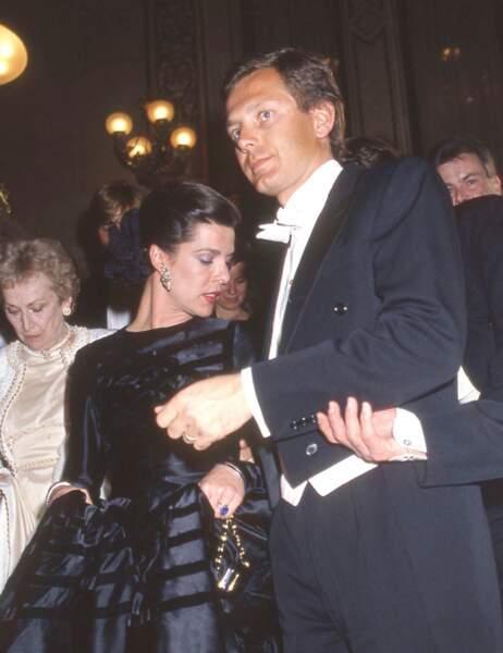 Caroline de Monaco et son second mari, Stefano Casiraghi