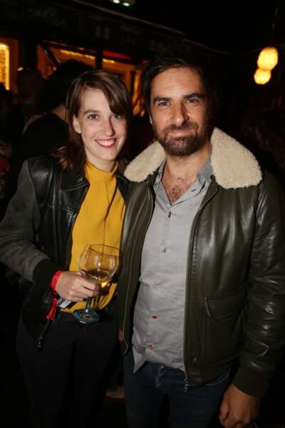 Fanny Sidney et Gregory Montel à la fête de fin de tournage de la saison 3 de Dix pour cent, le 25 avril à Paris