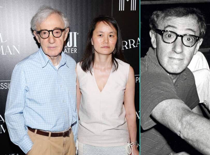 Woody Allen aujourd'hui à 80 ans et à 45 ans, l'âge actuel de sa femme Soon Yi