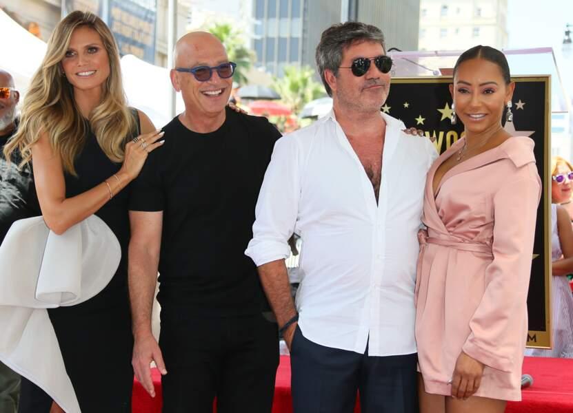 Melanie Brown inaugure l'étoile de Simon Cowell sur Hollywood Boulevard, Los Angeles