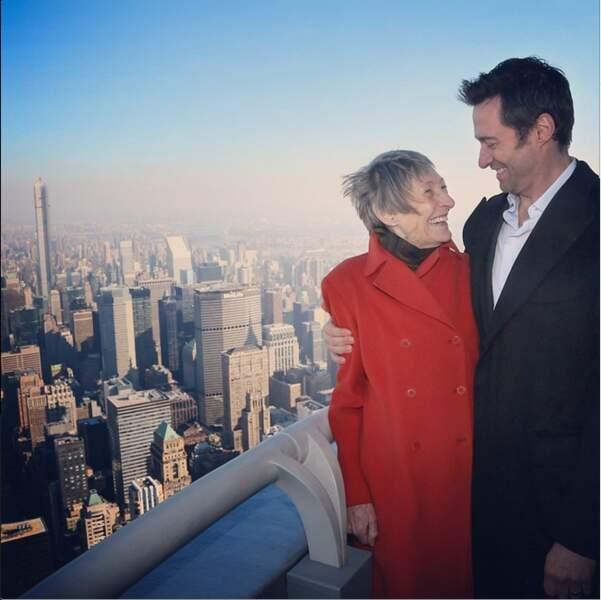 Hugh Jackman et sa mère