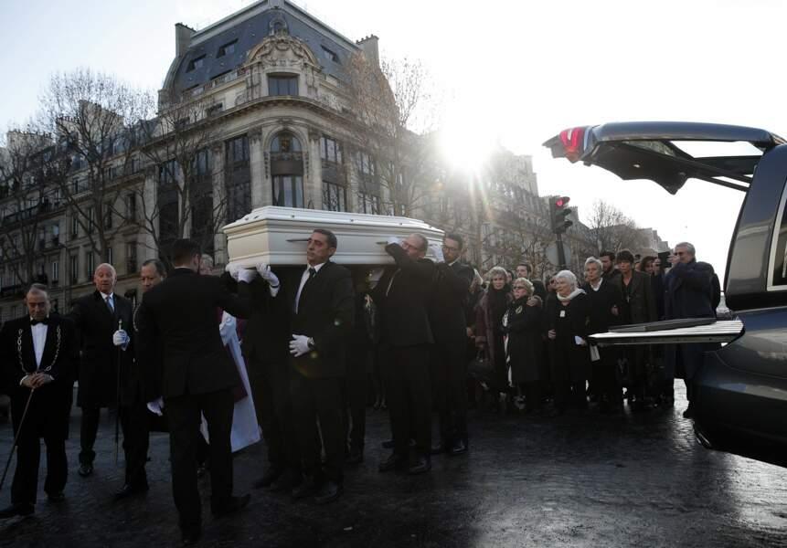 Le cercueil blanc de Johnny Hallyday
