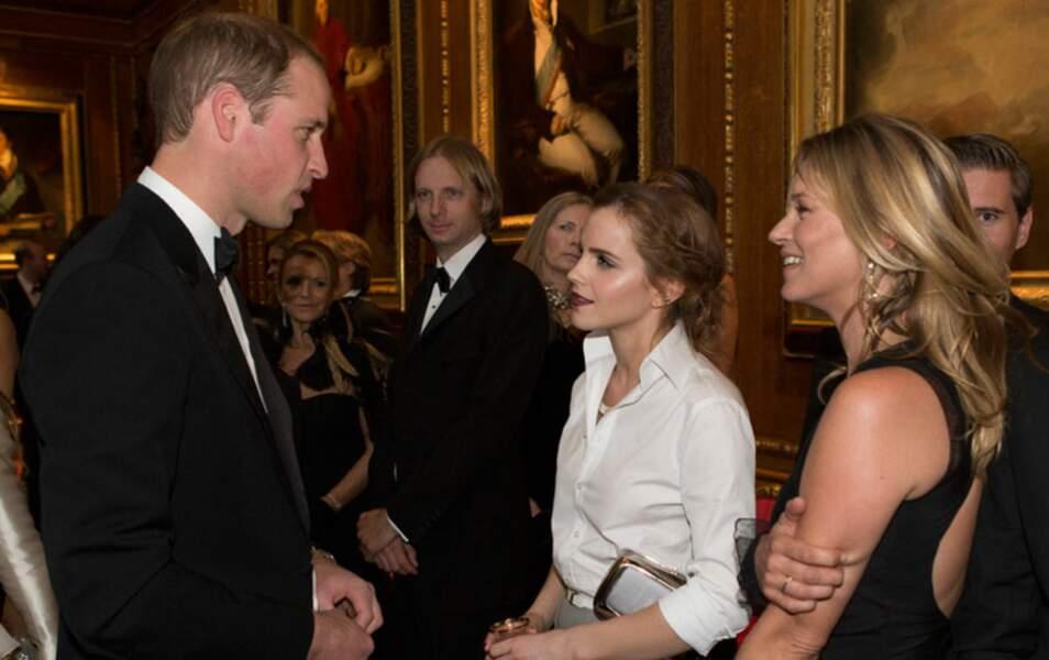 Le prince William a conquis Emma Watson et Kate Moss