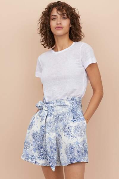 short avec ceinture, H&M, 24,99€