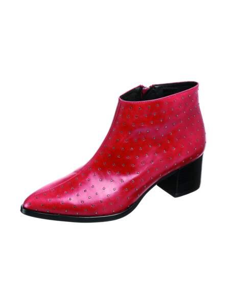 Low boots rouges, zalando.com, 100€