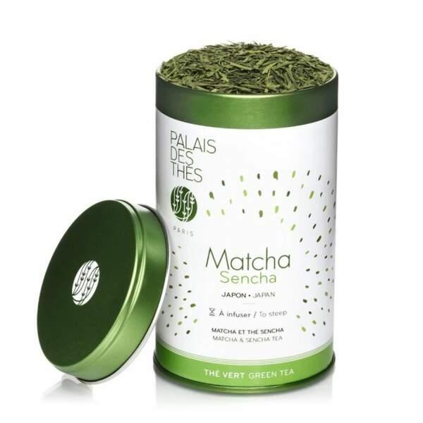 Notre Top 5 des boissons pour passer l'hiver : Mélange Matcha & thé vert Sencha, Palais des Thés, 25€ les 100g