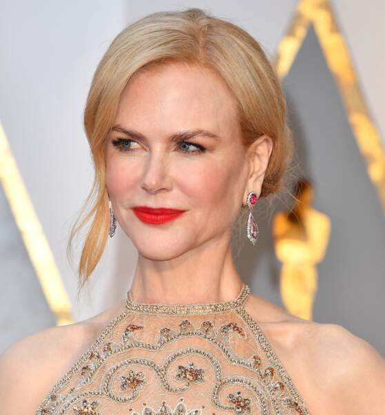 L'étrange visage de Nicole Kidman : Joues un peu creusées, menton plus saillant...