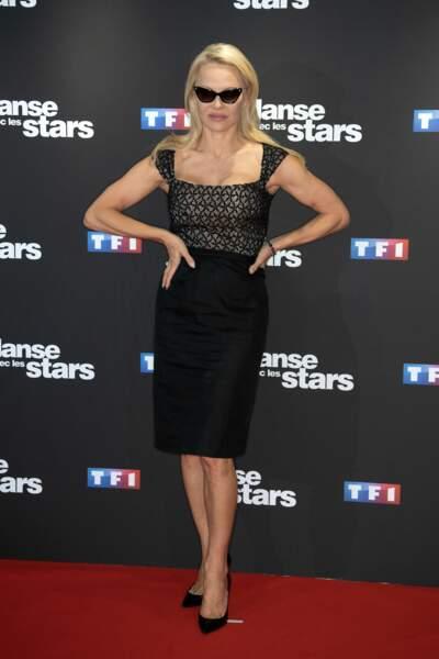 La star c'est bien elle : Pamela Anderson qui a fait son arrivée telle une diva
