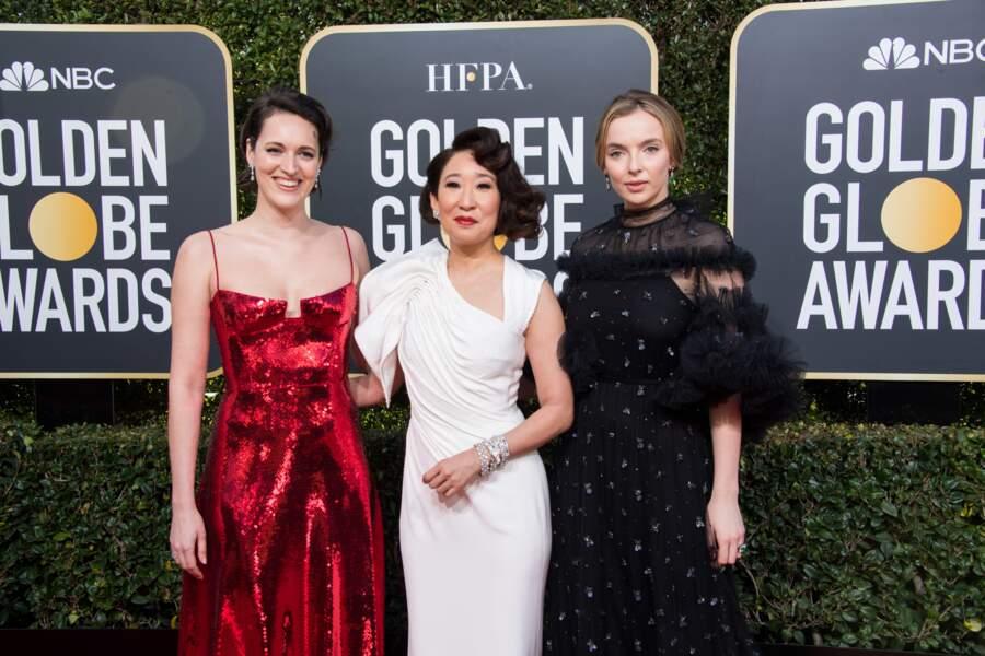 76ème cérémonie des Golden Globes : Phoebe Waller-Bridge, Sandra Oh et Jodie Comer