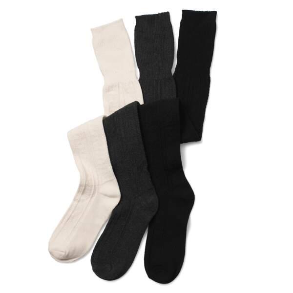 Lot de chaussettes hautes ASOS : 5,95€