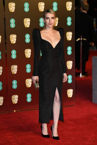 Emma Roberts aux BAFTA Film Awards 2018 à Londres, le 18 février