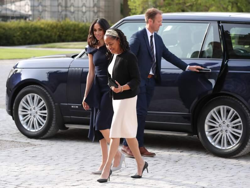 Meghan Markle avec sa mère, le prince Harry avec William, leur dernière apparition publique avant le mariage