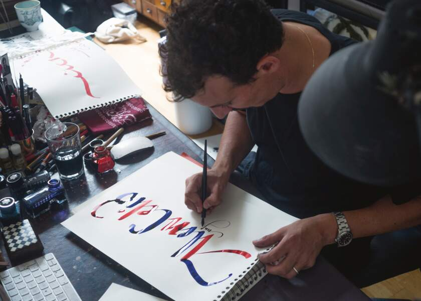 Le calligraphe Nicolas Ouchenir pour Celio