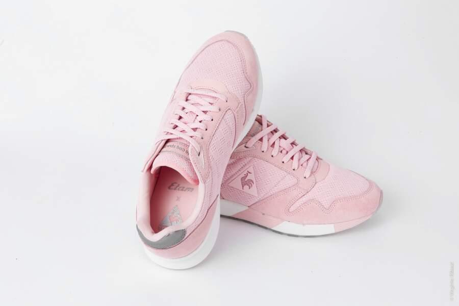 Sneaker en mesh Omega X, Etam x Le Coq Sportif, 90 euros
