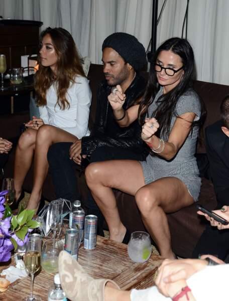 Stacy Keibler, Lenny Kravitz et Demi Moore
