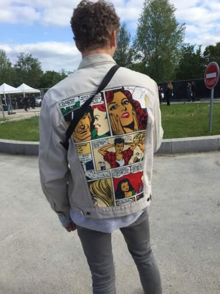 Marvellous Island Festival 2016: la bd pop art sur le dos d'une veste en jean? + 10 (allez, 15) points look!