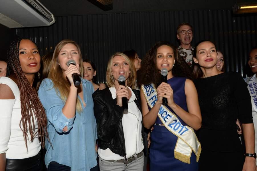 Alicia et ses miss se sont ensuite ruées sur les micros pour une petite séance de karaoké