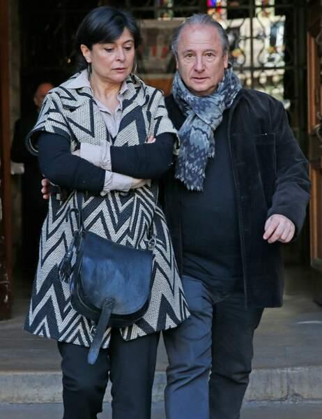 Le comédien Patrick Braoudé et sa femme Guila