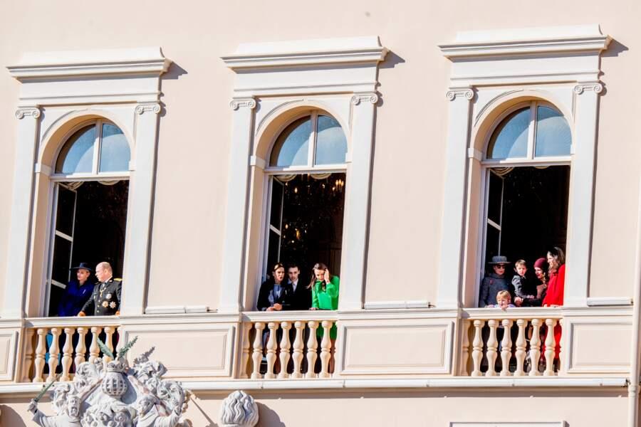 Fête nationale à Monaco - Du beau monde au balcon du palais princier