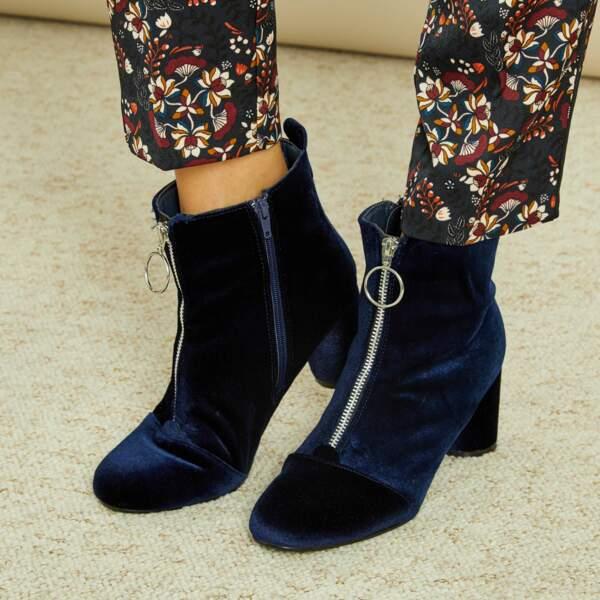 15 pièces modes à shopper chez Kiabi : Boots en velours, 8,10 euros au lieu de 27 euros