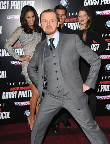 Simon Pegg en a marre de jouer les seconds rôles (devant Paula Patton, Tom Cruise et Léa Seydoux)