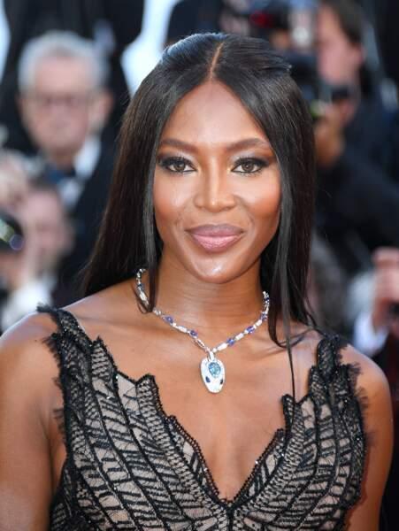 Cannes - Montée des Marches pour le 70ème anniversaire : Naomi Campbell