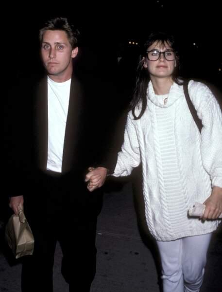 Demi Moore et Emilio Estevez
