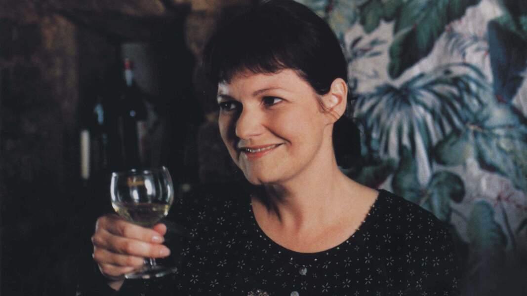 Maurane s'est aussi essayée au cinéma, ici sur le tournage du film Le Comptoir en 1998