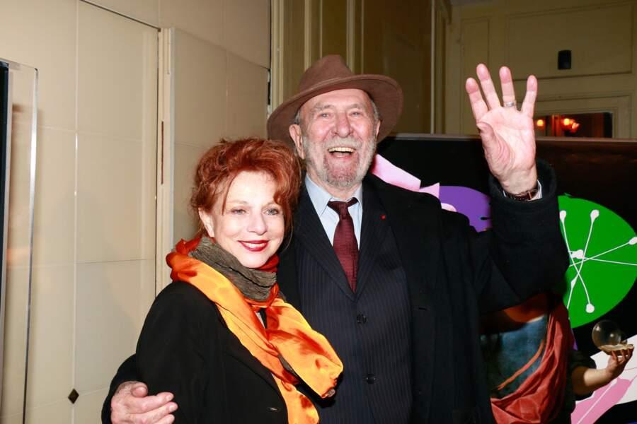 Jean-Pierre Marielle et son épouse