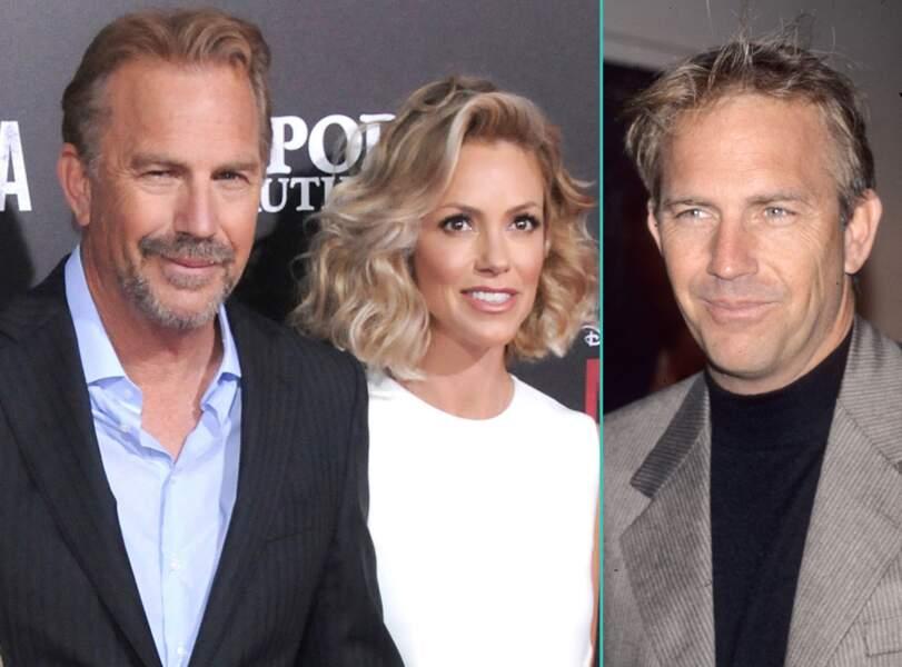 Kevin Costner aujourd'hui à 61 ans et à 41 ans, l'âge actuel de sa femme Christine Baumgartner