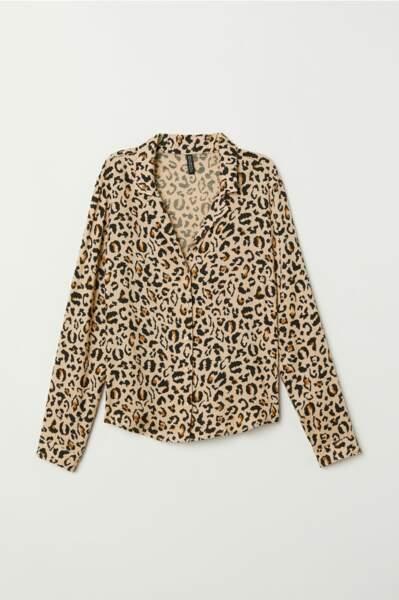 Chemise léopard, H&M, 19,99€
