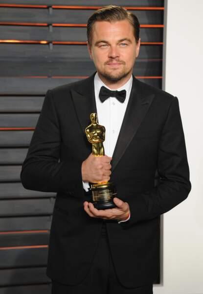 Leonardo DiCaprio rasé : c'est gagné (oui oui il a son Oscar car il s'était rasé) !