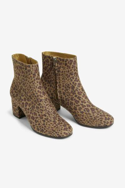 Bottines léopard, Monki, 35€