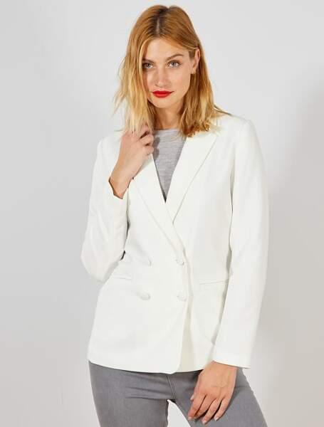 Veste blazer double boutonnage, Kiabi, actuellement à 22,50€