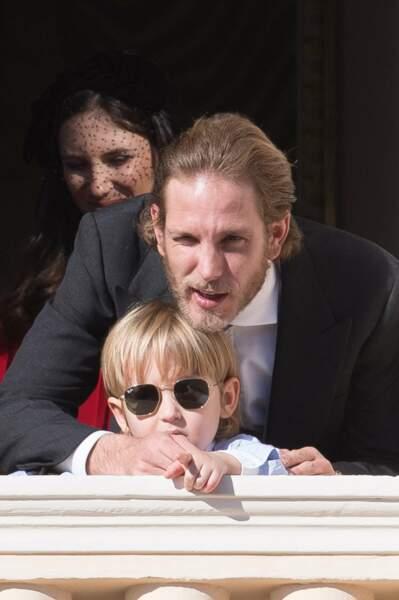 Fête nationale à Monaco - Tatiana santo-Domingo, Andrea Casiraghi et leur fils Sacha