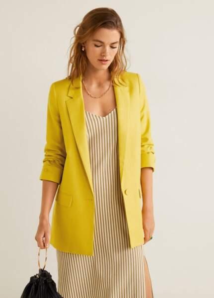 Veste lin structurée, Mango, 59,99€