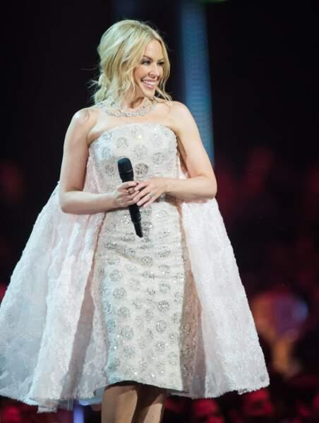 Kylie Minogue avait opté pour une tenue très originale