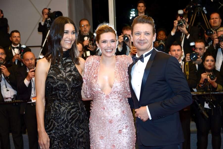 Julia Jones, Elizabeth Olsen et Jeremy Renner