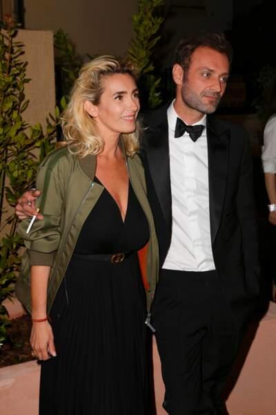 Mademoiselle Agnes et Augustin Trapenard au dîner Dior et Vogue lors du Festival de Cannes